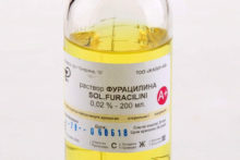 Раствор «Фурацилина»